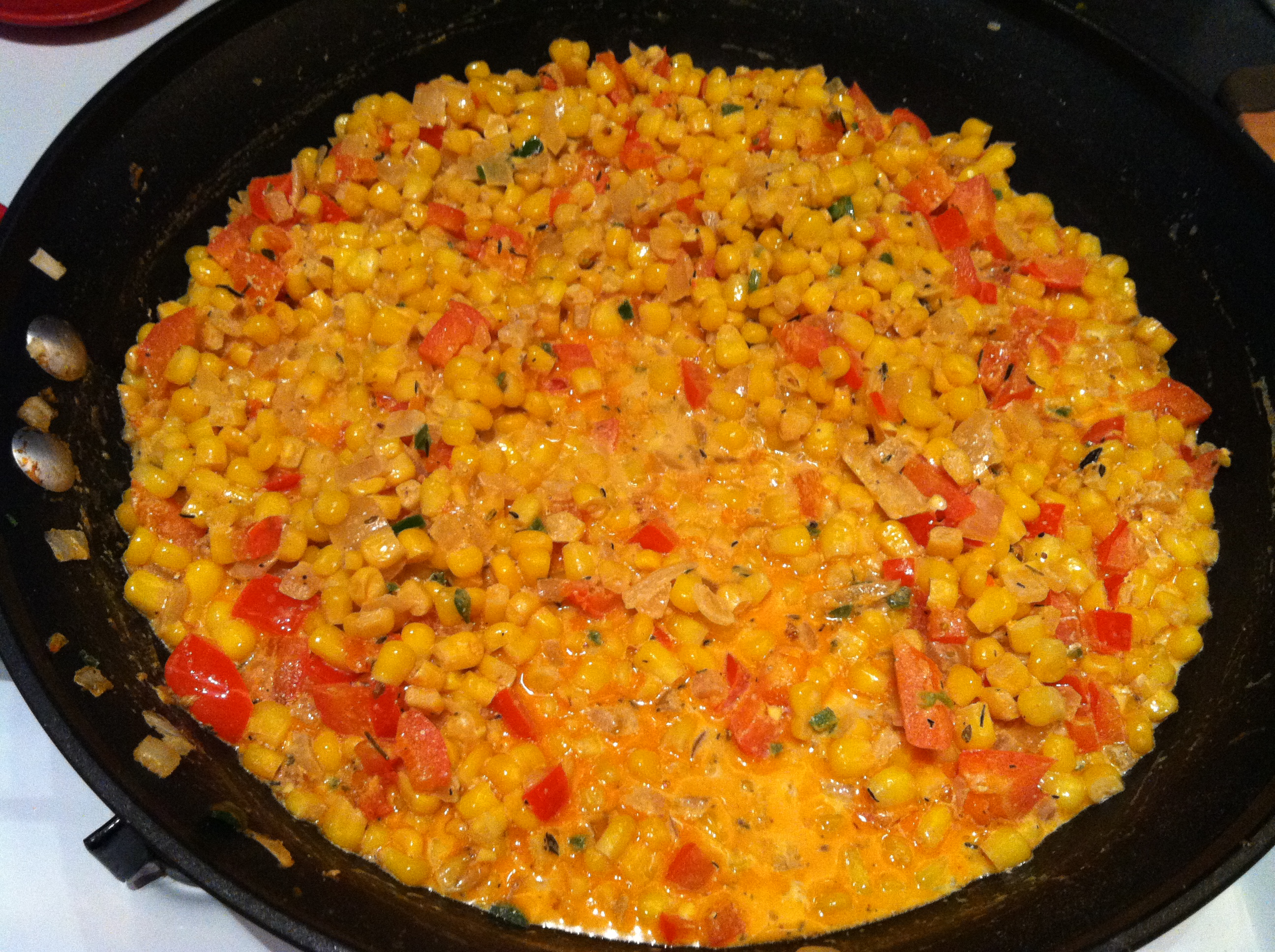 Cooking Club: Mardi Gras — Vegan Corn Maque Choux